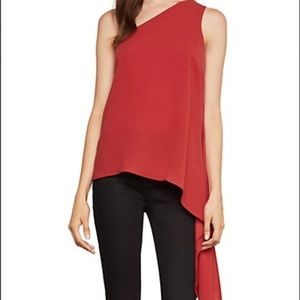 bcbgmaxazria top NWT S Cerise One Shoulder